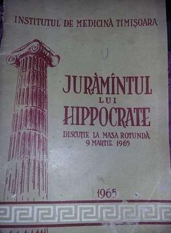 JURAMANTUL LUI HIPPOCRATE,discutie la masa rotunda 1965,Medicina TIMIS