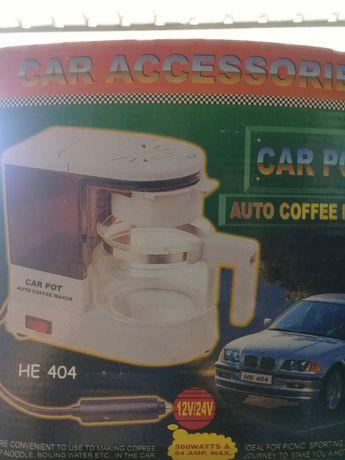 Кофеварка авто 12/24 вольт 300ватт хороший  подарок дальнобойщику