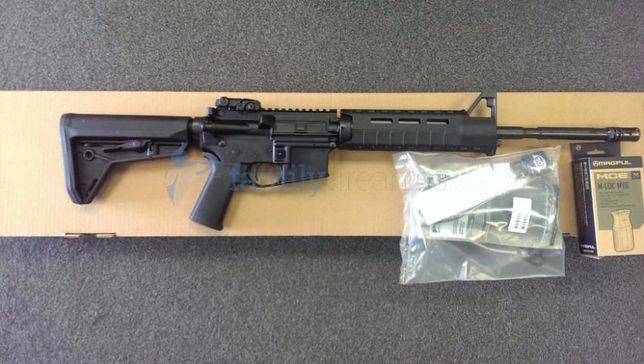 Pusca MANUALA (MODIFICATA!!)Airsoft Cu Aer Comprimat COLT M4 pistolGaz