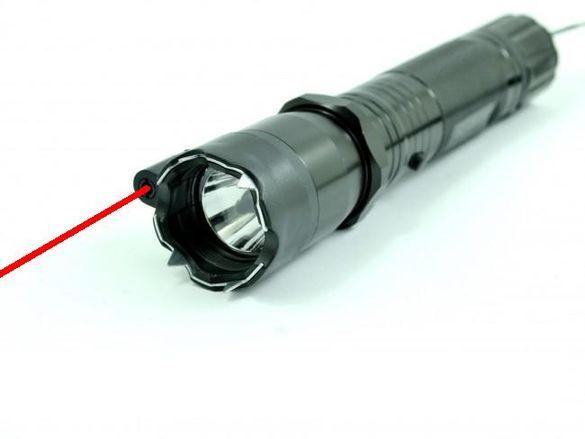 Електрошок комбинация с фенер и лазер
