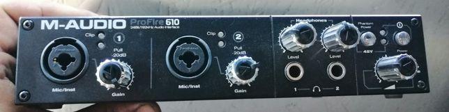 placa sunet audio m audio profire 610