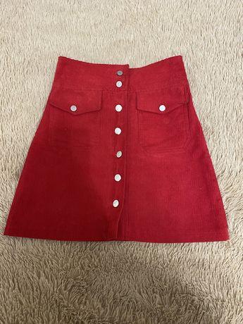 Новая микровельветовая юбочка