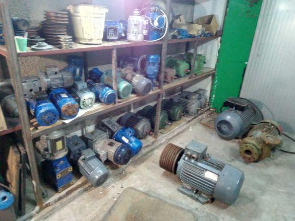 Ел.двигатели , моторедуктори,трифазни водни помпи и вентилатори.