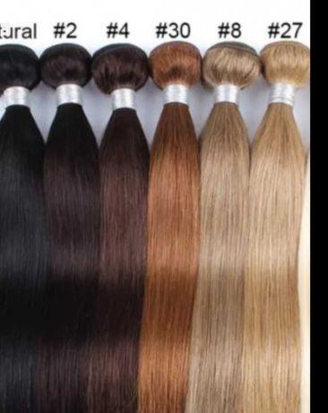 Естествена коса за удължаване- дълга60см . Индийска
