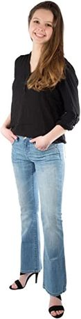 Blugi jeans dama boot cut TEDDY'S SWISS DENIM Debbi 31 - 32 - noi