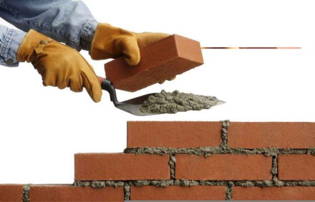 услуги строительной бригады фундамент кладка кровля крыш стяжка штукат