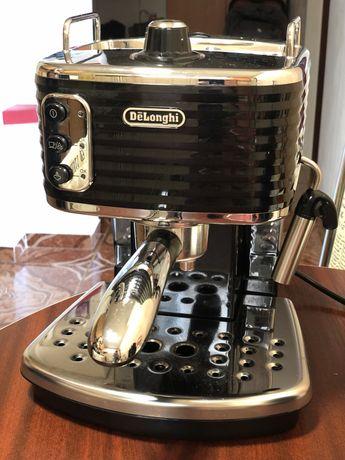Espressor manual premium De'Longhi Scultura ECZ351.BK, 1100 W, 1.4 l,
