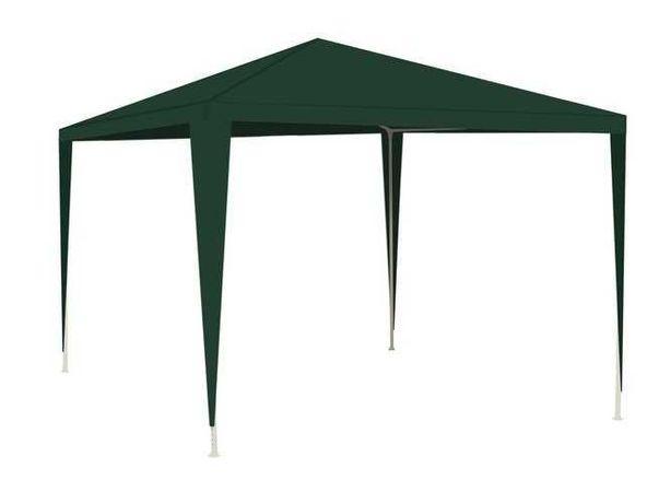 Cort pavilion, verde , fara pereti, cadru otel, 3 x 3 m