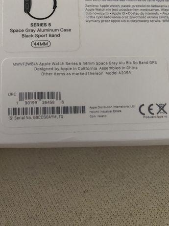 Vind Apple SERIES 5 Space Gray Aluminum Case Blak Sport Brand 44MM