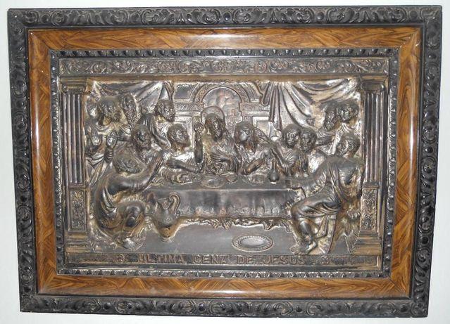 Reducere! Basorelief bronz argintat Ultima Cina a Domnului