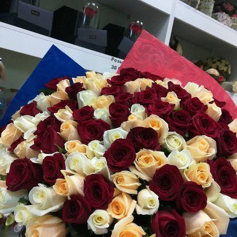 101 роза 50см высотой
