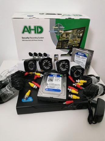 Sistem supraveghere 2Mpx 4Camere IR40M + HDD 500GB Internet