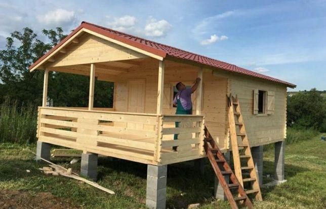 Vând cabane case de locuit din panou sendviș sau din lemn