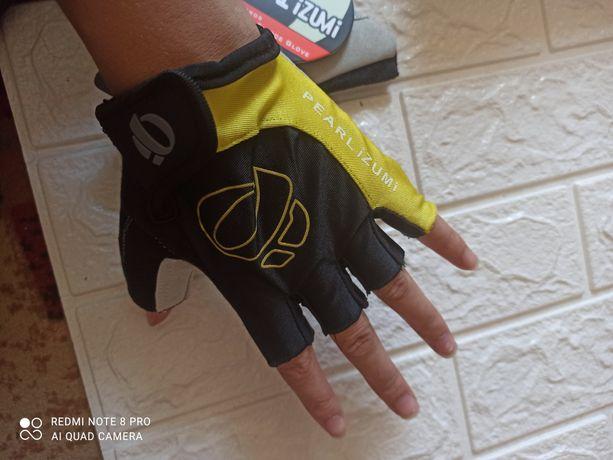 Велосипедные гелевые перчатки без пальцев, спортивные real izumi