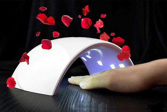Комбинирана лампа печка за нокти гел лак LED UV SUN 24W Дисплей печка