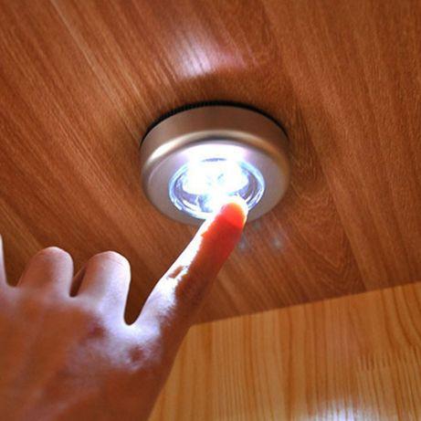 Сензорна LED лампа за шкафове гардероби таван стена килер светодиодна