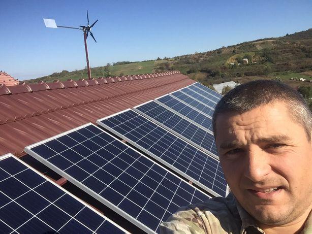 Sisteme fotovoltaice de la 1-10 Kw, panouri solare si  invertor hibrid