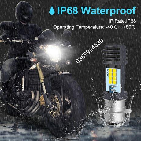Лед крушки за мотоциклети и АТВ P15D H6M 16 LED CSP