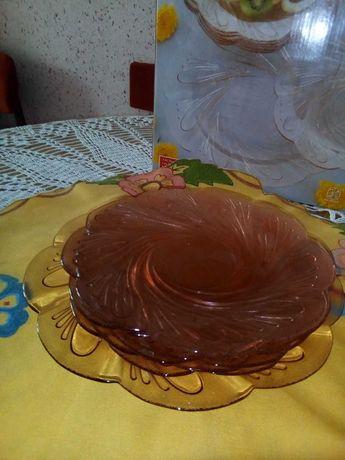 Нов сервиз за торта цветно стъкло