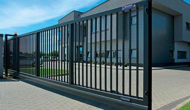 Промышленные ворота откатные и распашные с автоматикой / изготовление