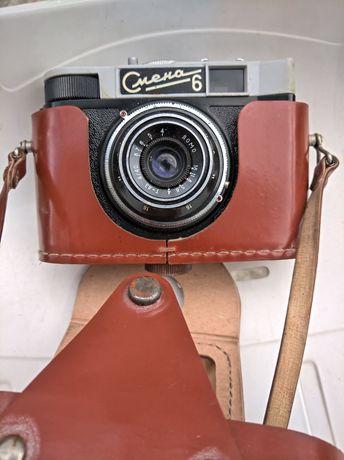 СМЯНА 6 Фотоапарат СССР,уникалет, калъф от Естествена кожа Без драскот