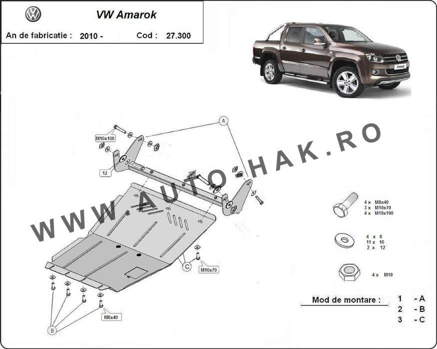 Scut motor metalic VW Amarok 2010-prezent- otel 3mm
