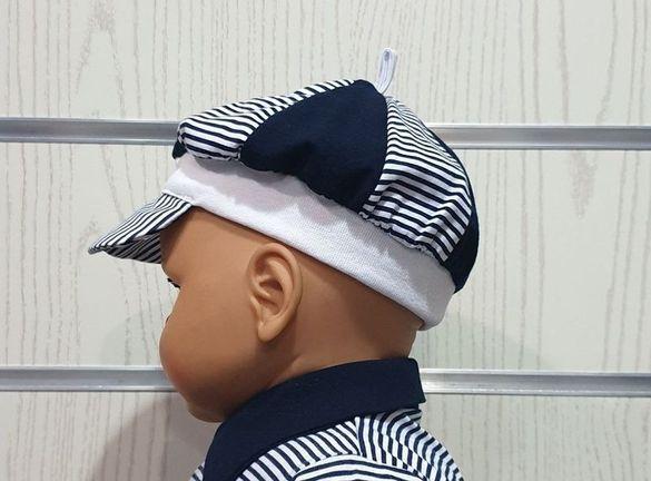 Нови бебешки различни моряшки шапки с козирка от 6 месеца до 8 годин