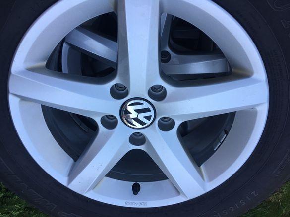 """4бр. оригинални джанти VW 16"""" 5x112 + зимни гуми Dunlop 215/65/16"""