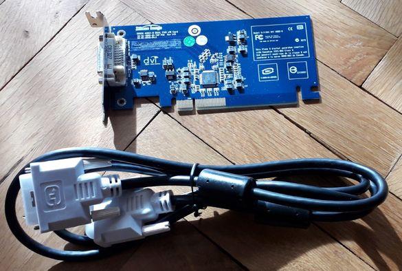 DVI PCI-e карта за компютър + DVI кабел