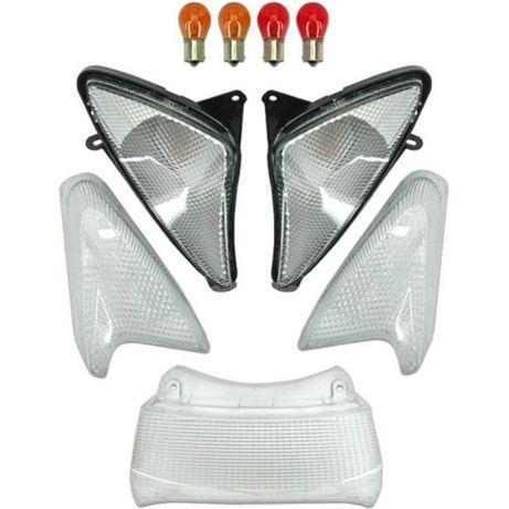 Комплект бели мигачи, стоп и крушки за Yamaha T-MAX500 (2001-2007)