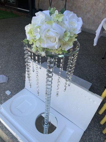 suport de sticla pentru aranjamente florare