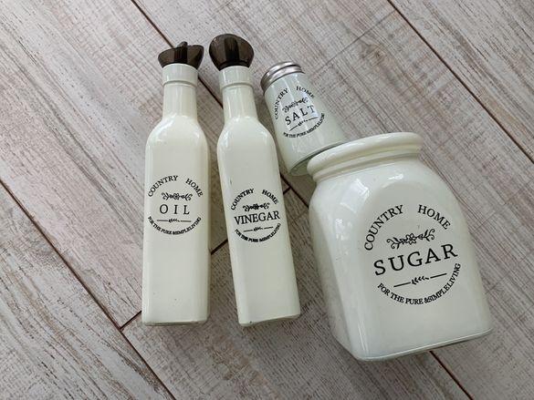 Комплект-за сол, захар, оцет, олио
