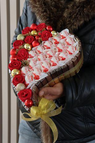 Подарок из конфет Мерси.Новогодний подарок.Доставка цветов букетов из
