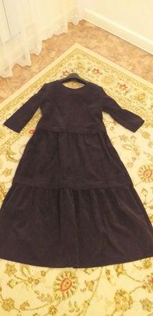 Вельюровое платье