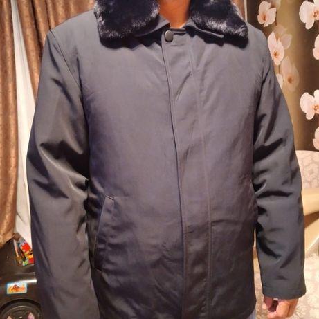 Продам мужскую куртку зима, с норковым воротником, съёмный