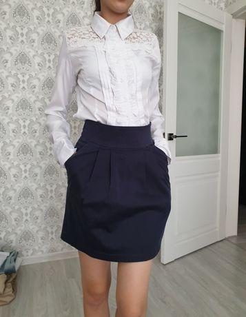Темно синие школьные юбки