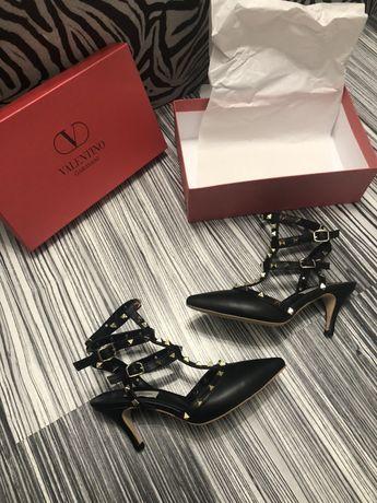 Pantofi Valentino/POZE REALE:piele naturală interior exterior toc 7 cm