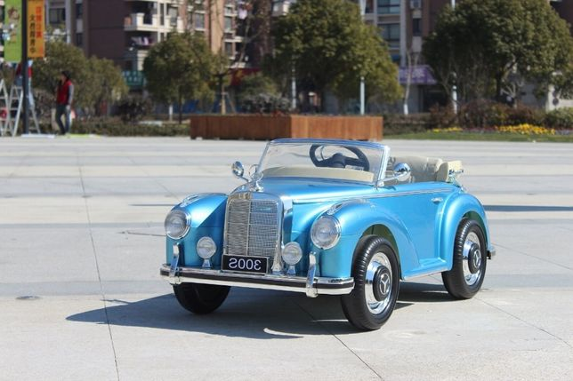 Masinuta electrica pentru copii Mercedes 300S OldTimer NOUA #Albastru