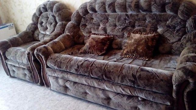 Уголок (диван, 2 кресла) (флок)