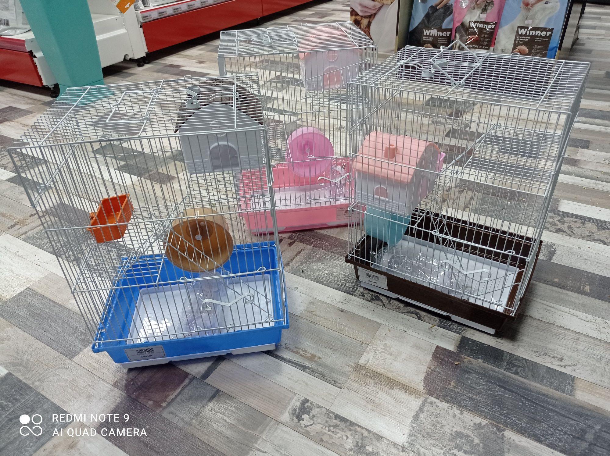 Клетки для грызунов 40×21×29см.