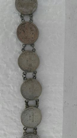 Стара гривна от сребърни монети