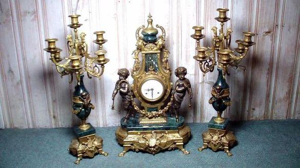 Часовник и свещници