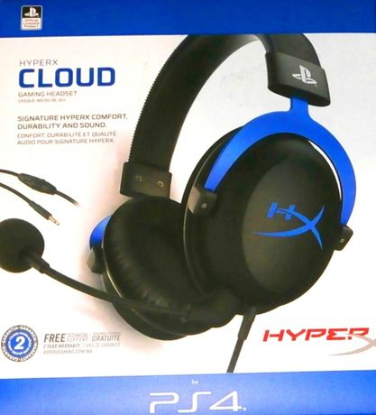 Casti HyperX Cloud Gaming Headset PS4 noi, pachet sigilat