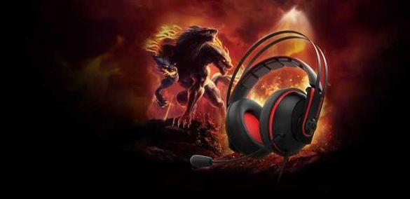 ASUS Cerberus V2 Gaming Headset в черно-червено