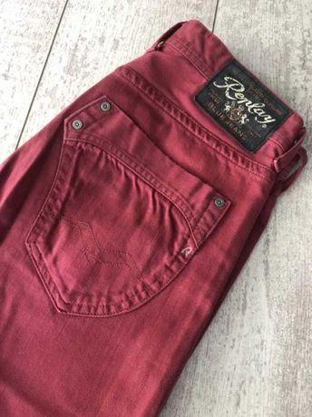 Replay оригинални мъжки дънки в цвят бордо