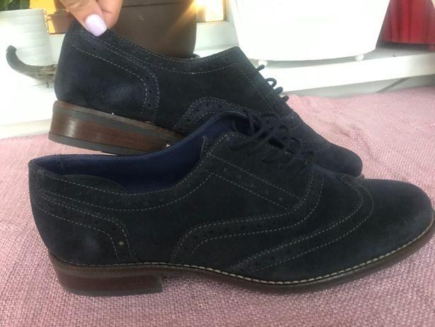 Pantofi din piele barbati bluemarin