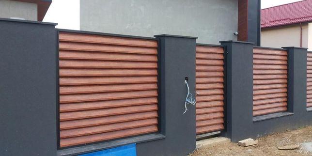 Vand/Fac garduri si porti din fier, sipca metalica, tabla, plasa, BCA
