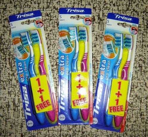 Новая мягкая зубная щётка Trisa, made in Switzerland