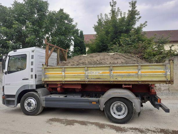 Transport nisip sort piatra sparta  pamant paleti cu camion basculabil