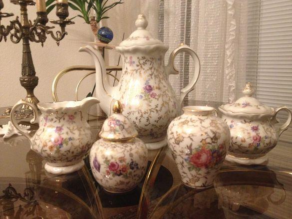 Vintage: Royal Porzellan сервиз за кафе/ немски чаши с подстакани